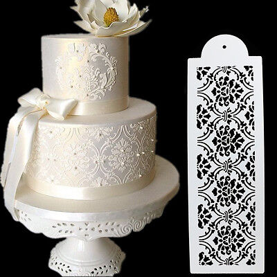 £2.86 • Buy Plastic Cookie Cake Stencils Fondant Tools Decoration For Cakes Wedding FlowRBO
