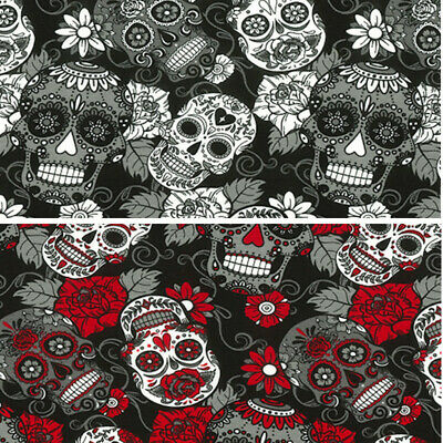£13 • Buy Cotton Jersey Fabric John Louden Mexican Candy Skulls Tossed 145cm Wide
