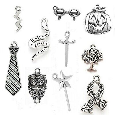 Harry Potter Charms Mixed Tibetan Silver Pendant Pack Of 20 • 3£