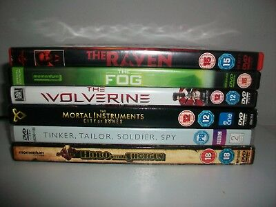 6 DVDS Inc. THE RAVEN-THE FOG-THE WOLVERINE-THE MORTAL INSTRUMENTS  (6) • 4.99£