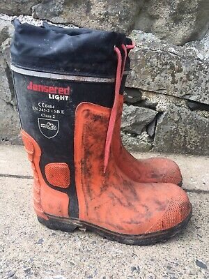 Jonsered Chainsaw Lightweight Protective Boots Wellingtons Class 2 Size 9 • 40£