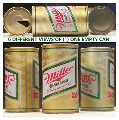 $3.95 • Buy Miller High Life Beer 12 Oz Pull Tab S/S Can Milwaukee Wisconsin 33F