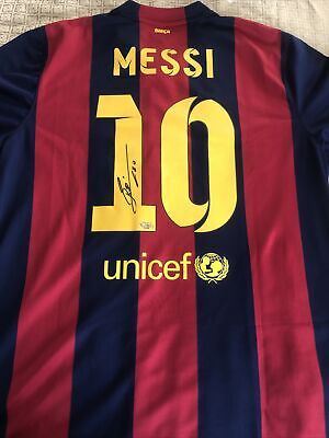 AU1416.70 • Buy Lionel Messi Signed Jersey FC Barcelona Authentic Nike (XL) (Field Of Dreams)