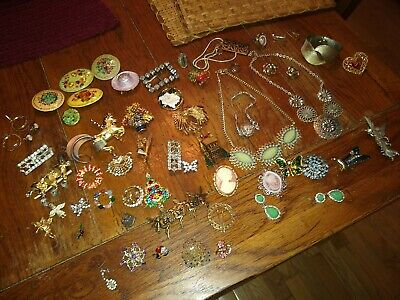 $ CDN119.92 • Buy VINTAGE RHINESTONE BROOCH PIN JEWELRY LOT Some Signed Weiss Christmas Brooch
