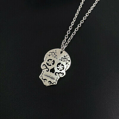 AU1.10 • Buy Vintage Skeleton Pendant Necklace For Women, Ethnic Skull Necklace,skull Jewelry