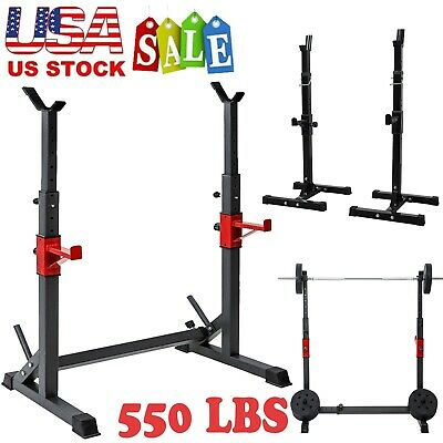 $ CDN83.72 • Buy Adjustable Squat Rack Bench Press Weight Lifting Barbell Stand Home Gym Fitness