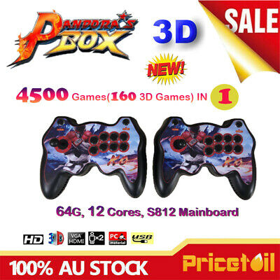 AU204.88 • Buy 4500 Games In 1 3D Pandoras Box Arcade Console Split 2 Players Full HD