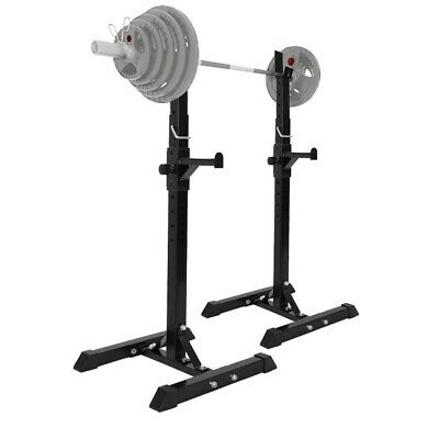 $ CDN84.99 • Buy Adjustable Squat Rack Bench Press Weight Lifting Barbell Stand Home Gym 440lbs