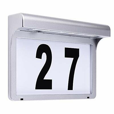 LED House Number Plaques Address Signs Light Solar Illuminated Name • 38.99£