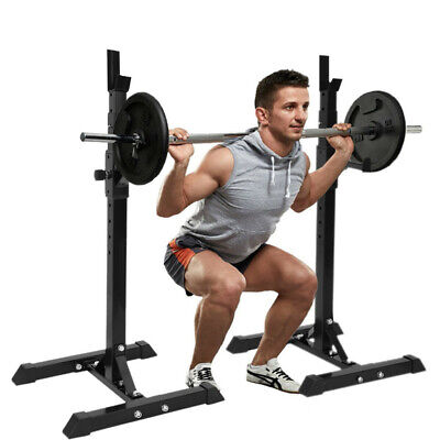 $ CDN92.60 • Buy Adjustable Squat Rack Bench Press Weight Lifting Barbell Stand Home Gym 441lbs