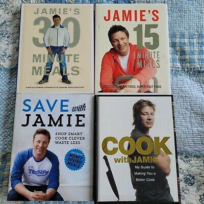 AU50 • Buy Bulk Jamie Oliver Cookbooks X 3 Jamie's 15 & 30 Minute Meals, Save With & Cook