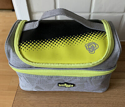 $ CDN5.12 • Buy Smiggle Unisex Double Decker Lunch Bag Grey Neon