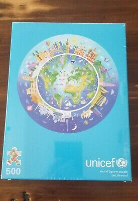 $ CDN49.17 • Buy UNICEF 500 Piece Round Planet Earth Charity Jigsaw Puzzle BRAND NEW & UNOPENED