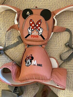 Baby Girl Disney Minnie Mouse Front Baby Carrier Backpack With Hip Seat • 23£