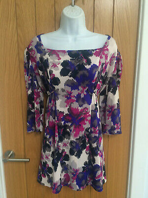 Vibrant Soft Tunic / Top With Tie Strings - Size L • 1.99£