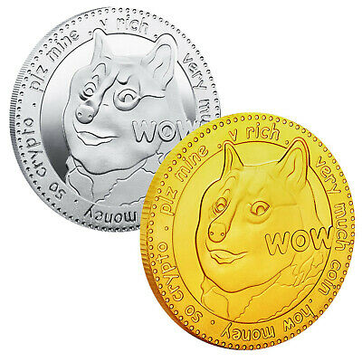 $29.99 • Buy 2Pcs Dogecoin Military Challenge Coins Gold Silver Plated Doge Coin Collectibles