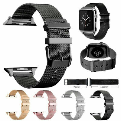 $ CDN18.70 • Buy Steel Stainless Band Strap IWatch For Apple Watch Series 5 4 3 2 6 38/40/42/44mm