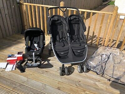 B-Agile Double Buggy With Car Seat, Isofix Base And Car Seat Receivers • 300£