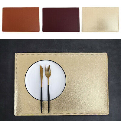 AU18.38 • Buy PU Leather Place Mats Dining Table Placemats Non-Slip Washable Muti-Color