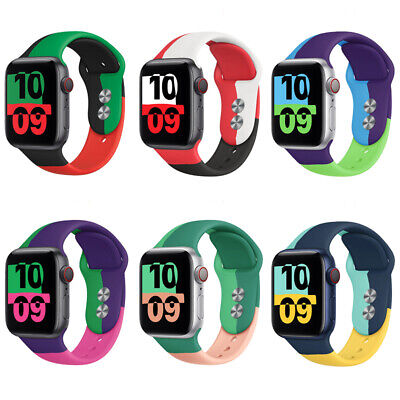 $ CDN9.46 • Buy Silicone Sport Band IWatch Wrist Strap For Apple Watch Series 6 5 4 3 SE 40/44mm