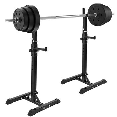 $ CDN0.01 • Buy 2Pcs Gym Fitness Adjustable Squat Rack Bench Press Weight Lifting Barbell Stand