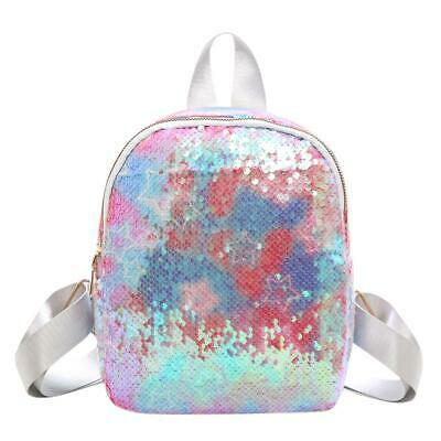Sequins Women Travel Backpack Bling PU Leather Multicolor School Bag (1) • 10.82£