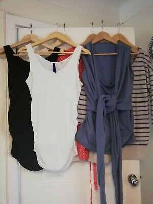 Seraphine Maternity And Nursing Tops Bundle Size 10/12 • 25£