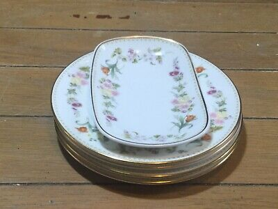 £12 • Buy Collection Of Four Wedgwood  Mirabelle  Side Plates And Small Rectangular Dish