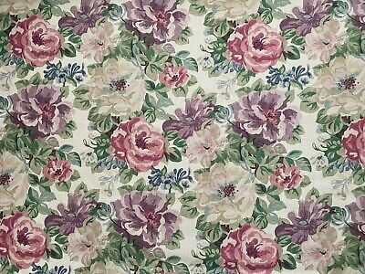 £79.99 • Buy SANDERSON CURTAIN FABRIC DESIGN  Midsummer Rose  3 METRES LILAC AND ROSE
