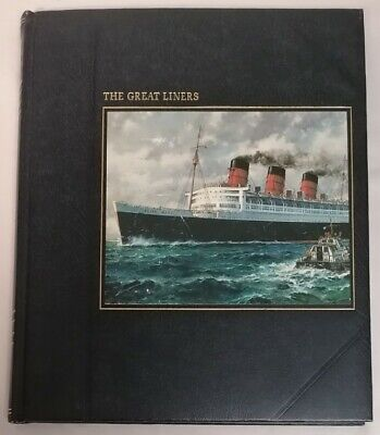 BOOK - Time Life Books The Seafarers Great Liners HB 1980 Ocean Ships History • 6£