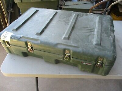 $59 • Buy Used High-Impact Plastic Shipping Case, Military Medical Box 33 X21 X9  OD, NICE