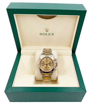 $ CDN20321.12 • Buy Rolex Daytona 116523 Champagne Dial 18K Yellow Gold Stainless Steel With Box