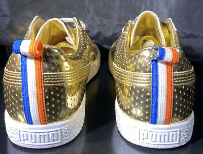 PUMA CLYDE X UNDFTD GAMETIME PROMO UNDEFEATED GOLD RED LOT WHITE BLUE Sz 8 • 45.03£