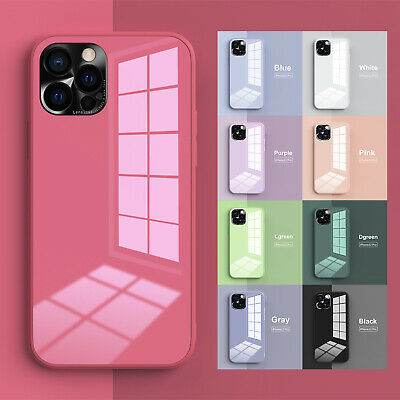 AU11.26 • Buy For IPhone 11 12 Pro Max XS XR 7 8+ Hybrid TPU Glossy Glass Back Hard Case Cover