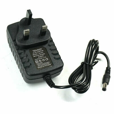 £5.79 • Buy 9v 2a Ac/dc Uk Plug Power Supply Adapter 2000ma Charger Mains Lead Uk