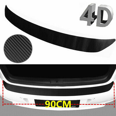 $11.84 • Buy 4D Sticker Rear Bumper Guard Sill Plate Trunk Protector Trim Cover Accessories