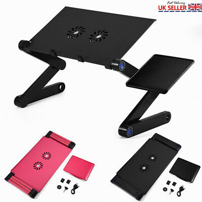 Portable Laptop Computer Desk Fan Folding Adjustable Bed Sofa Tray Stand Table • 18.55£