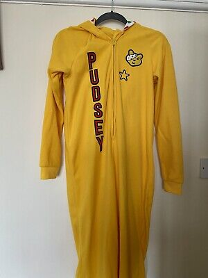 Children In Need  Pudsey Bear Adult One Piece Size Extra Small ( About 8-10) • 4.80£
