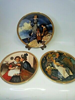 $ CDN48.25 • Buy Norman Rockwell Plates Rediscovered Women Set Of 9