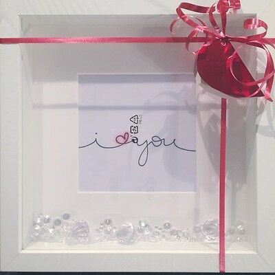 White Frame  I Love You    Valentine Picture Stunning • 16£