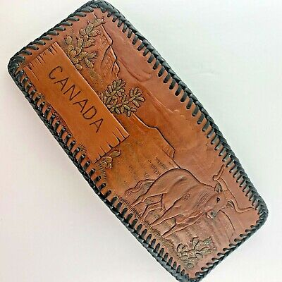 $ CDN59.99 • Buy Amish Handcrafted Canada Leather Wallet Men's Hand Tooled Crafted Brown Laced