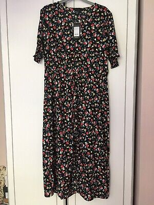 Bnwt New Look Floral Dress Size 14 • 9£