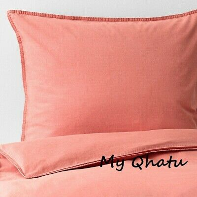 Ikea ANGSLILJA King Duvet Cover And 2 Pillowcases Light Brown-Red (Coral) NEW • 50.11£