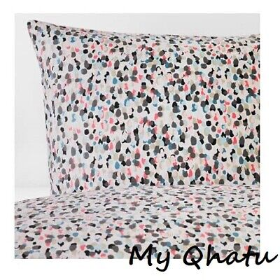 IKEA Smastarr King Duvet Cover And 2 Pillowcases Dotted Multicolor Bed Set New • 41.07£