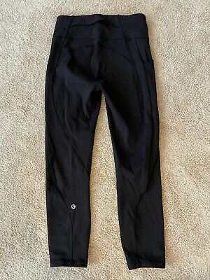 $ CDN24.09 • Buy LULULEMON Women's Black Leggings Pants Size 6 Back Pocket Side Pockets