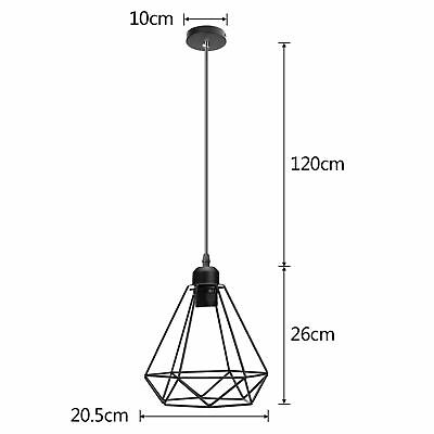 £7.99 • Buy Metal Pendant Lamp Light Shade Ceiling Industrial Geometric Wire Cage Lampshade