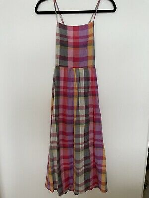 AU20 • Buy Urban Outfitters Multicolour Plaid Midi Dress With Open Back Size S Worn Once