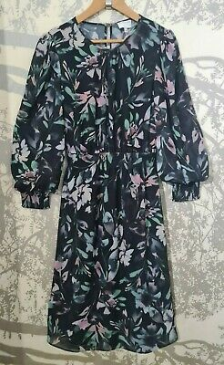 AU25 • Buy Stunning Witchery Floral Voluminous Sleeve Dress Size 12 Mint Condition