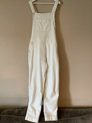Boden Cream Lined Textured Cotton GIrls Dungarees/ Jumpsuit Age 11-12 Years VGC • 0.99£