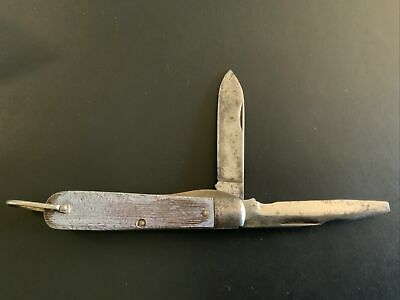 $9.95 • Buy Vintage M Klein And Sons 2 Blade Electrician Pocket Knife With Bail Brass Liner